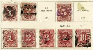 UNITED STATES POSTAGE DUE   LOT    USED  AS SHOWN