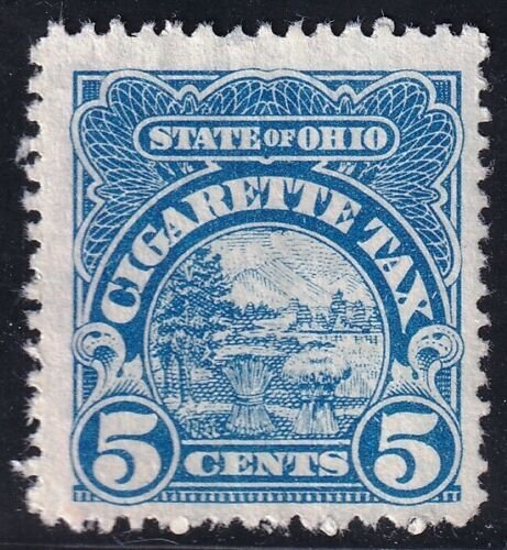 US STAMP REVENUE STATE OF OHIO 5C CIGARETTE TAX APID STAMP