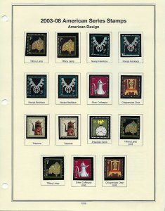 ASSORTMENT OF 2003-2008 MINT SINGLES ON ALBUM PAGES - W13