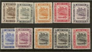 Brunei 1947 Definitives MNH Cat£35
