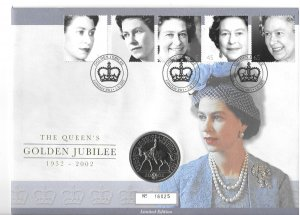 GB 2017-21  2002  Comm. cover w/ 5 lb coin