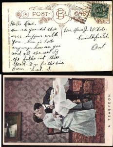 Canada #7784-1c Edward-Wooler squared circle-Ju 18 1908 -