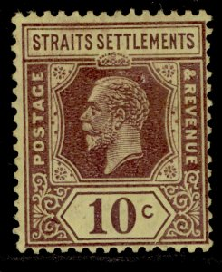 MALAYSIA - Straits Settlements GV SG231a, 10c purple/pale yellow, M MINT.DIE II