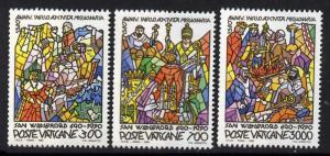 Vatican 858-60 MNH Art, St Willibrord