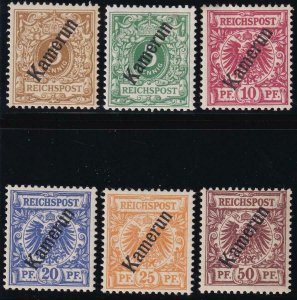 Cameroun 1897 SC 1-6 MNH Set