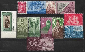 COLLECTION LOT OF 12 EGYPT MH/UNUSED 1950+ STAMPS CV + $20