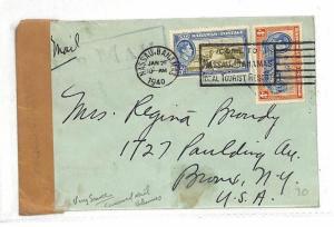 Bahamas *NASSAU* New York USA Cover {samwells-covers}PTS 1940 AC311