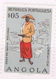 Angola 395 Unused Man of Malange 1957 (A0433)