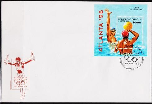 Benin. 1996 FDC. 1000f Miniature Sheet. Fine Used