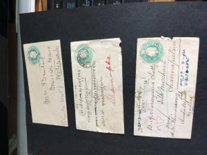 Inda 1903/1920 Three Edward Internal Covers inc. Registered. VG-VF Est. $25.+
