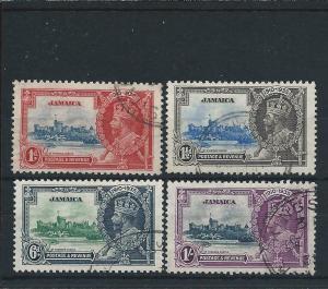 JAMAICA 1935 SILVER JUBILEE SET FU SG 114/117 CAT £40