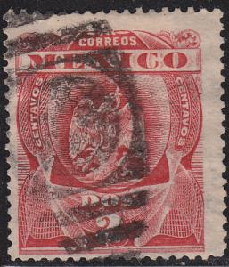 Mexico 295 Hinged Used 1899 Coat  of Arms