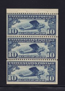 C10Aa booklet pane VF OG never hinged with nice color cv $ 115 ! see pic !