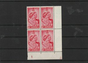 dominica 1948  block  mnh stamps  ref 7039