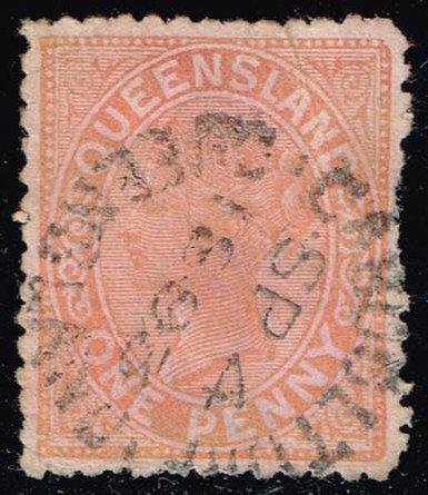 Australia-Queensland #90 Queen Victoria; Used (0.50)