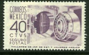 MEXICO G16, 40¢ 1950 DEFINITIVE 2nd PTG. INSURED LETTER, wmk 300. MINT, NH. VF.