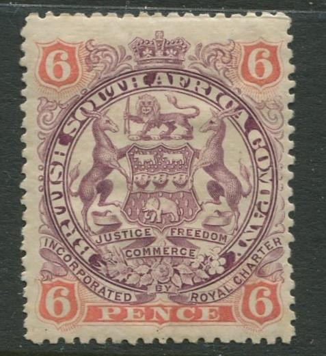 British South Africa - Scott 55 - Arms -1897 - Mint - Single 6p Stamp