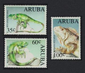 Aruba Iguana Lizard Fauna 3v 1993 MNH SC#98-100 SG#132-134