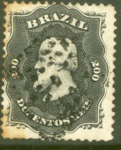 Brazil 59, 200r Emperor Dom Pedro. Used. (123)