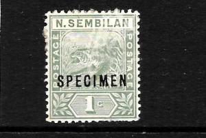 NEGRI  SEMBILAN  1891-94  1c  TIGER    MH     SPECIMEN   SG 25