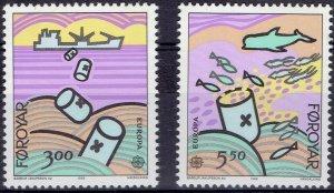 Faroe Islands 1986 #143-4 MNH. Environment, Europa