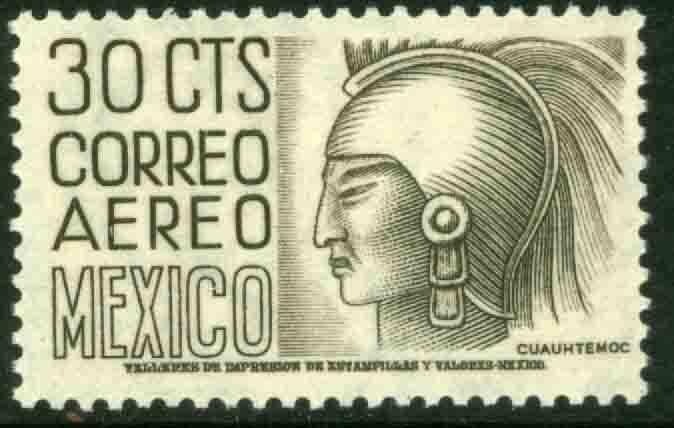 MEXICO C220B, 30cents 1950 Definitive 2nd Printing wmk 300. MINT, NH. F-VF.