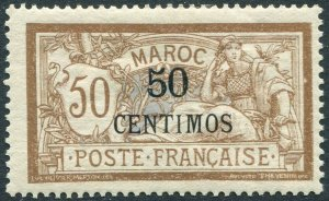 FRENCH MOROCCO-1902 Merson 50c on 50c MOUNTED MINT V36455