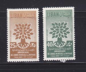 Lebanon C284-C285 Set MH World Refugee Year (B)