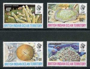 British Indian Ocean Territory SG41/44 1972 Coral Set Fresh U/M