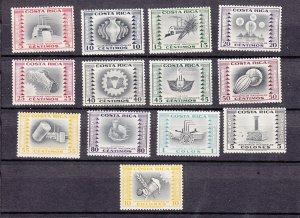 J28408 1954-9 costa rica mnh part of set #c227//c245 hv of set