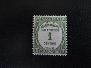 Andorra #J16 Mint Never Hinged (K7G1) WDWPhilatelic