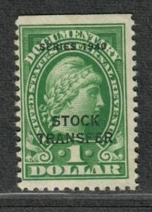 US Sc#RD54 M/LH/F-VF, Stock Transfer Revenue Stamp, Cv. $50