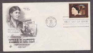 1487 Willa Carter ArtCraft FDC with erased pencil address