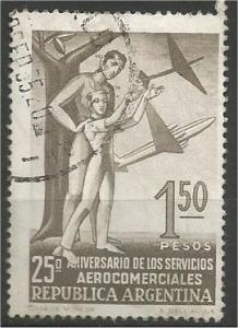 ARGENTINA, 1955, used 1.50p, Aviation  Scott 645