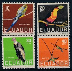 [61799] Ecuador 1958 Parrots, Birds  MNH