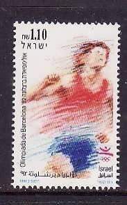 Israel-Sc#1098 -unused NH set-Sports-Summer Olympics-Barcelona-1992-