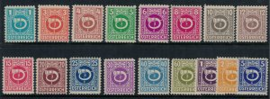 Austria #4N1-17*  CV $6.10  Allied Military Government stamps after WW2