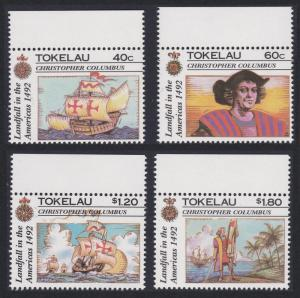 Tokelau 500th Anniversary of Discovery of America by Columbus 4v SG#193-196