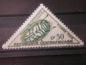 CENTRAL AFRICAN,  MH 50c, Beetles: Scott J2 POSTAGE DUE STAMPS