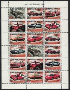 Suriname Ferrari Motor Cars Sheetlet of 2 sets SG#2254-2261