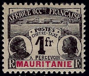 Mauritania Sc J8 Mint OG F-VF SCV$17.50...Colonies are in demand!