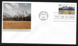 United States 2444 Wyoming Statehood First Day Cover FDC (z4)