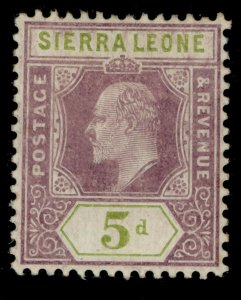 SIERRA LEONE EDVII SG106, 5d purple and olive-green, M MINT. Cat £26.