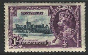 Montserrat Sc#88 MVLH - offset from album page, crease