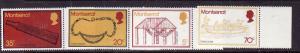 Montserrat-Sc#319-22-unused NH set-Carib Artifacts-1975-