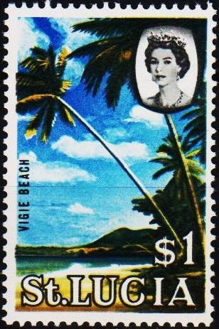 St.Lucia. 1964 $1 S.G.209 Mounted Mint