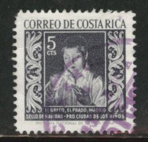 Costa Rica Scott RA4 used 1959 Postal Tax Stamp
