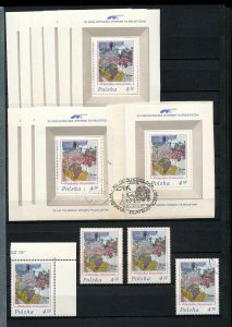 POLAND 1975/76 Sheets Art Sport Trains MNH Used (Appx 110)(MR441