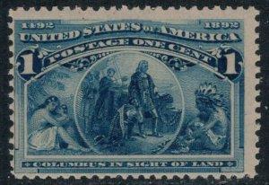 U.S. #230* NH  CV $48.00