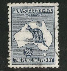 Australia Scott 4 Used Kangaroo & Map 1913